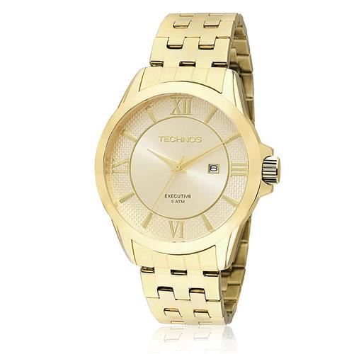 Relógio Masculino Technos Classic Executive Analógico 2115KOS/4X Dourado