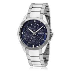 Relógio Feminino Technos Elegance Crystal Analógio 203AAB/1A Azul com cristais