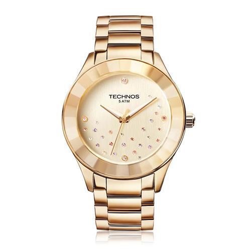 Relógio Feminino Technos Elegance Crystal Analógico 2036LLP 4X Dourado com  cristais 62c23320dc