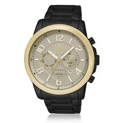75ef7148716 Relógio Masculino Dumont Analógico DUJP25AB 3D Aço Negro